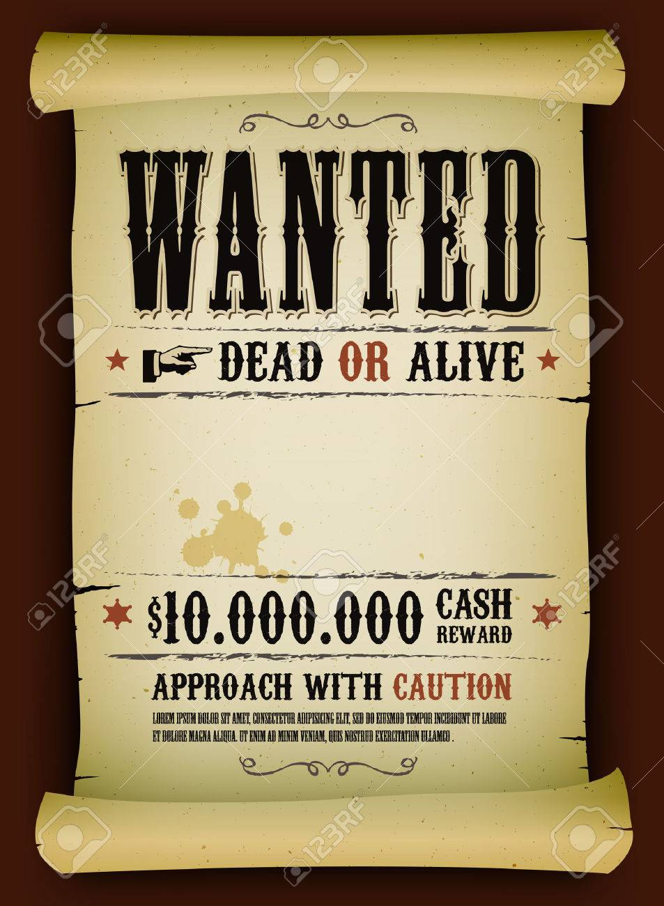 Reward Poster Template Word Party Western ThemeWanted Poster – Wanted Poster Template Publisher