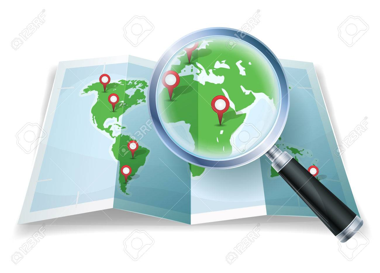 Illustration of a cartoon world map with magnifying glass scaling illustration of a cartoon world map with magnifying glass scaling details stock vector 79277630 gumiabroncs