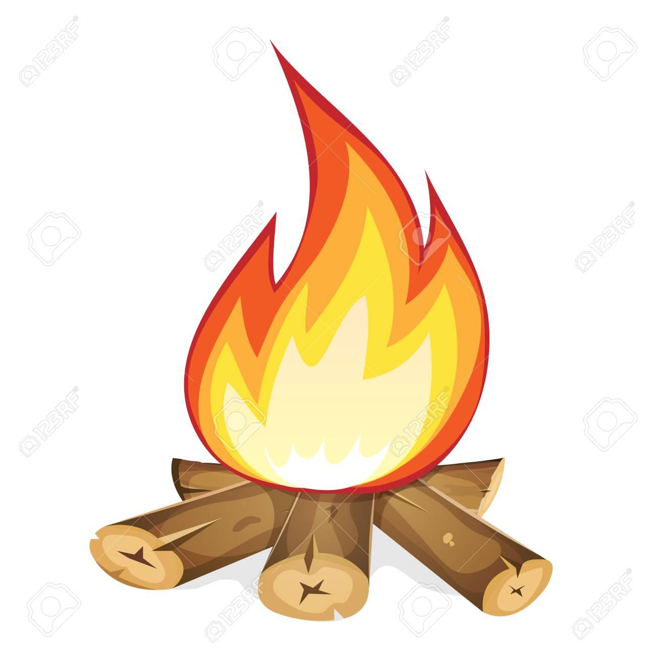 illustration of a cartoon bonfire burning with wood branch and rh 123rf com cartoon bonfire night images cartoon bonfire drawing