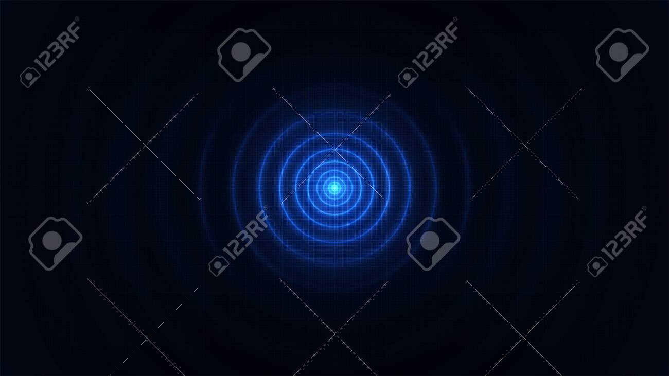 Illustration of an abstract background with motion effects and glowing patterns - 134807966