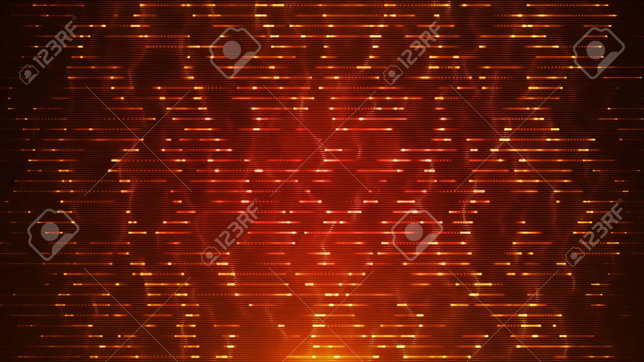 Illustration of an abstract background with motion effects and glowing patterns - 134807970