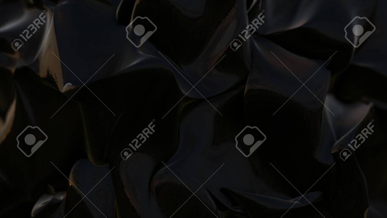 Illustration of an abstract complex oil fluid background seamless looping - 143539673