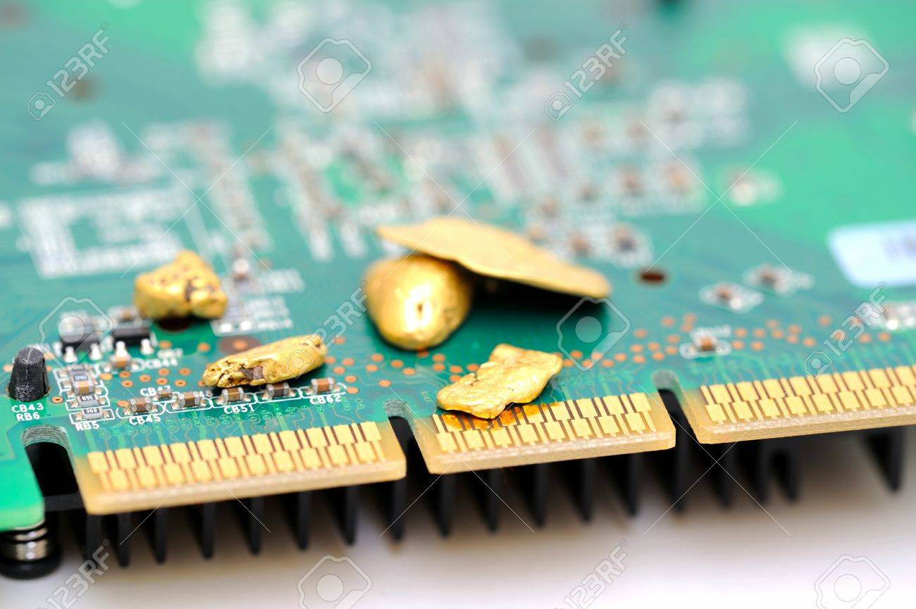 Gold is an important part of modern technology  raw gold nuggets