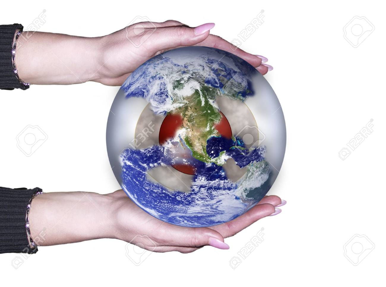 Planet is in our hands . . . Stock Photo - 5665836