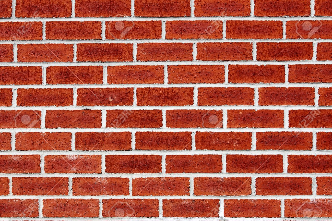 Mur En Brique Rouge mur de brique - ligne périodique blancs sur la brique rouge