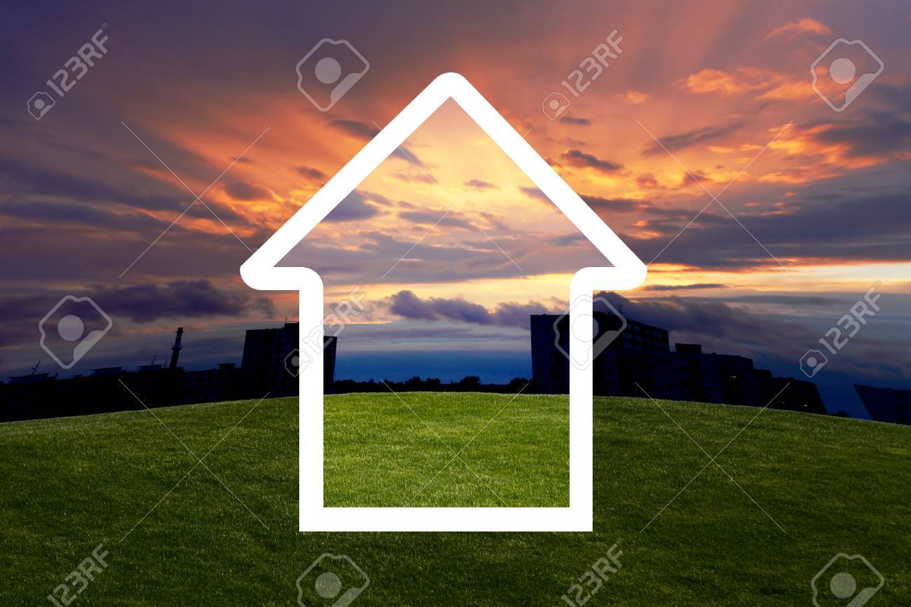 home from dreams with sunset Stock Photo - 7736058