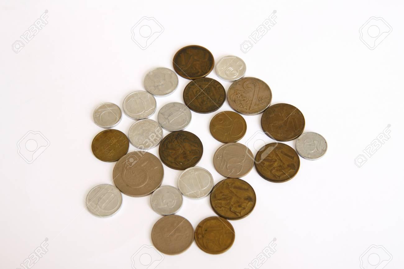 Czech old money on white background Stock Photo - 9146540