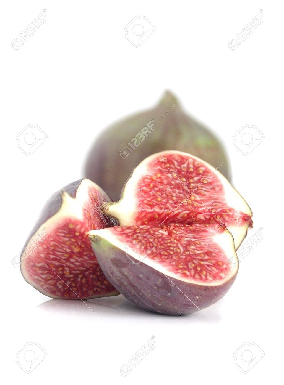 Fresh figs isolated on a white background Stock Photo - 9146522