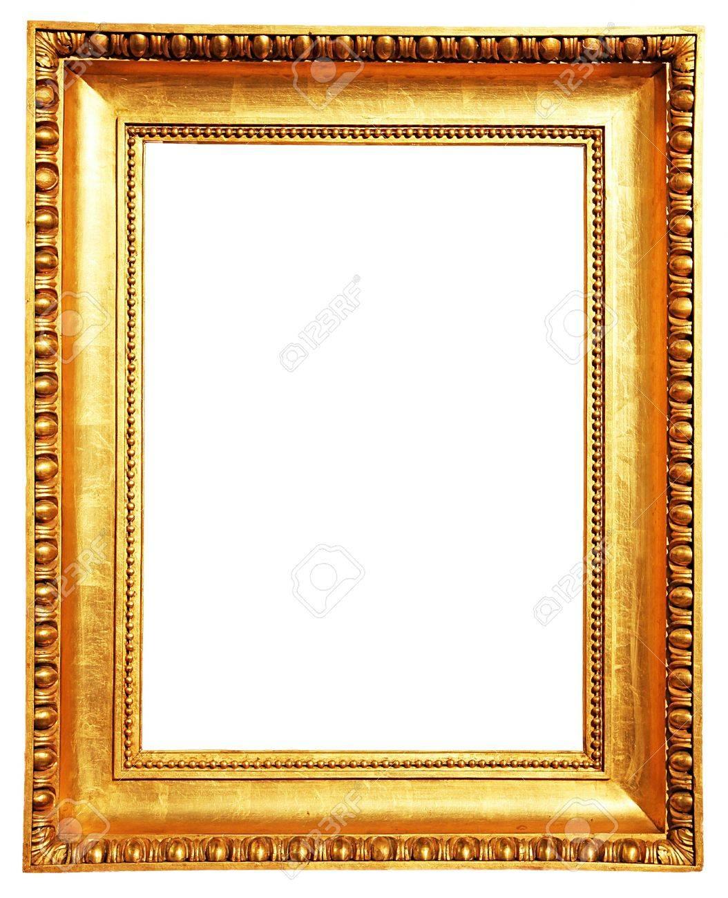 Ein Goldener Bilderrahmen Isoliert Auf Weiß Lizenzfreie Fotos ...