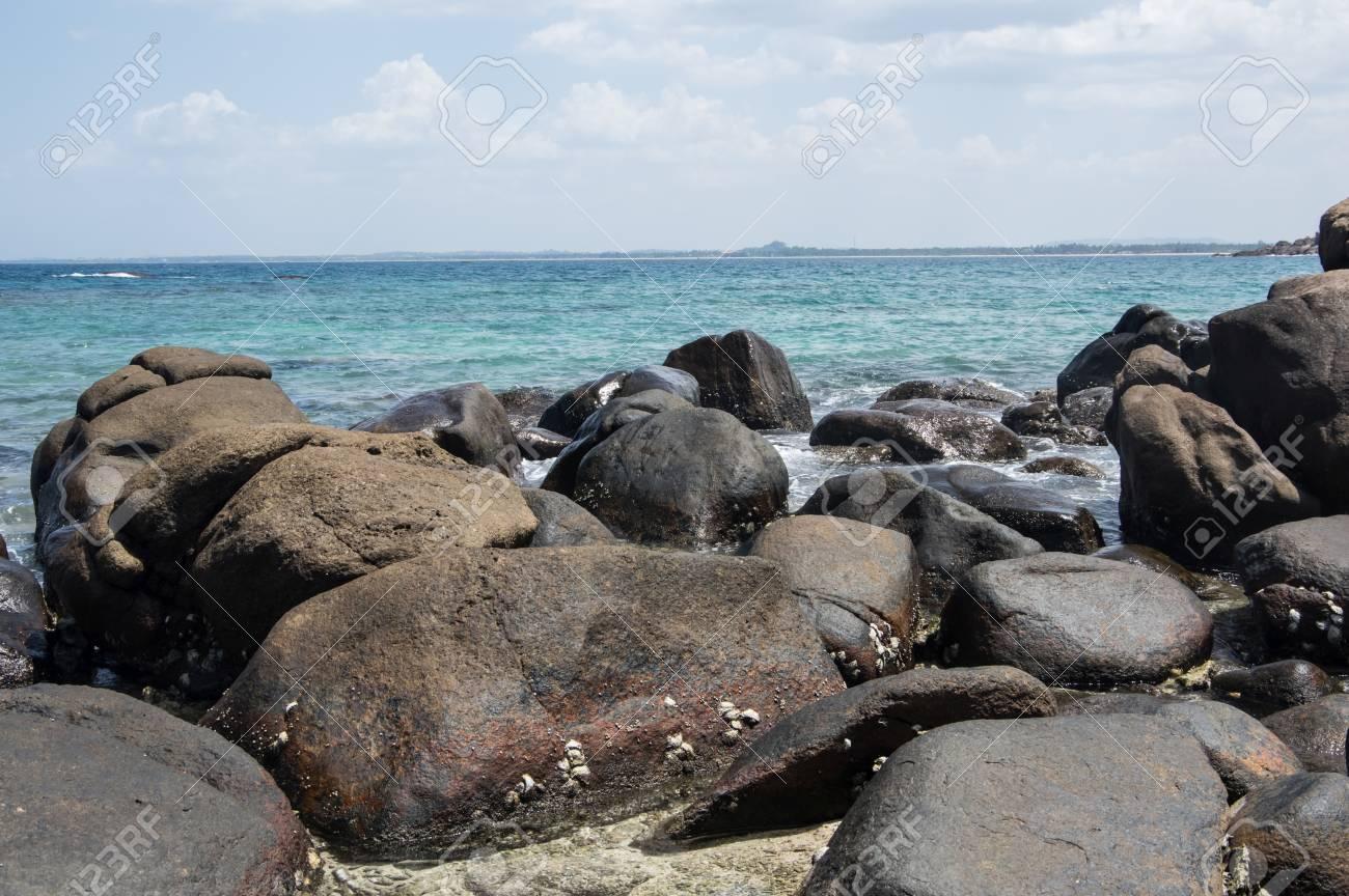Rocks At The Beach Of Pigeon Island In Sri Lanka