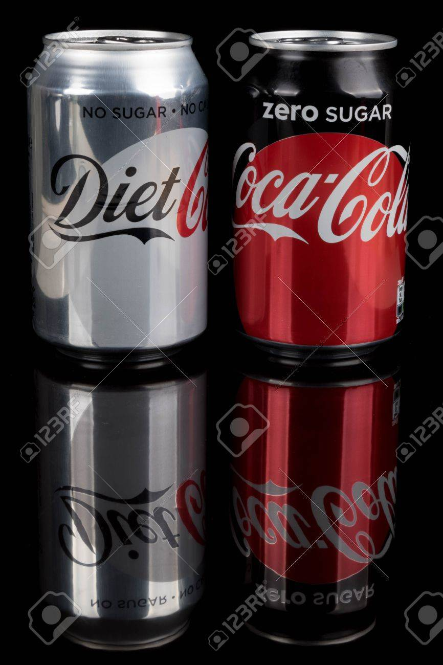 London, United Kingdom - May 11, 2017  Can of Coke Zero and Diet