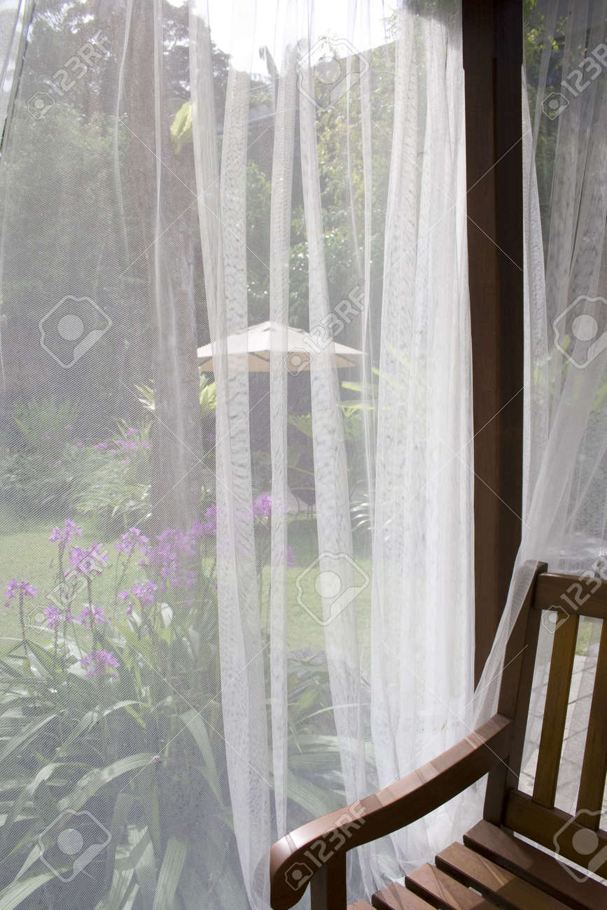 See Thru Curtains A White Mosquito Curtain Which Can See Thru For An Abtract
