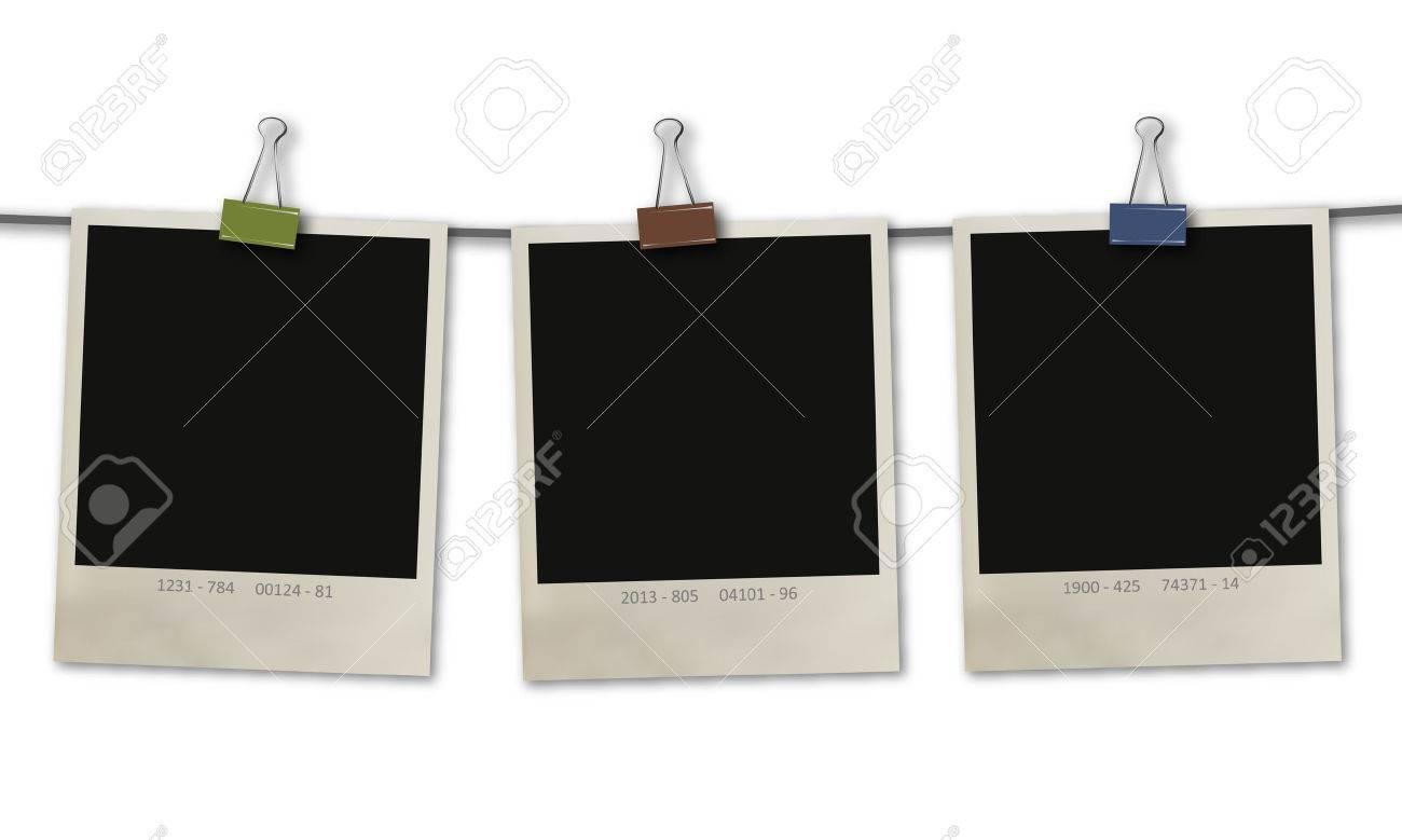 set of three retro photo frames - 29672451