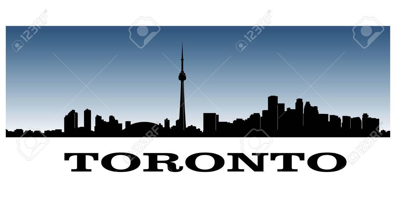 silhouette of toronto s skyline - 29672453