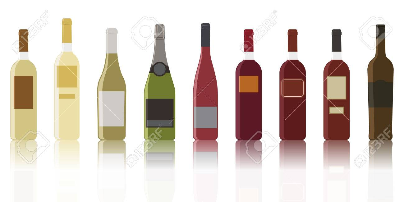 The most common collection of types of wine - 70125308