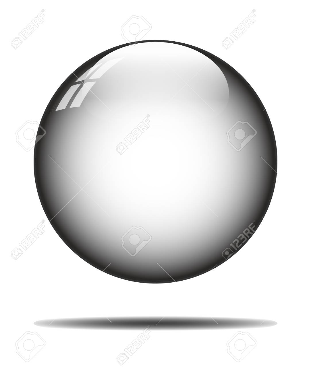 isolated crystal ball on white background - 109431312