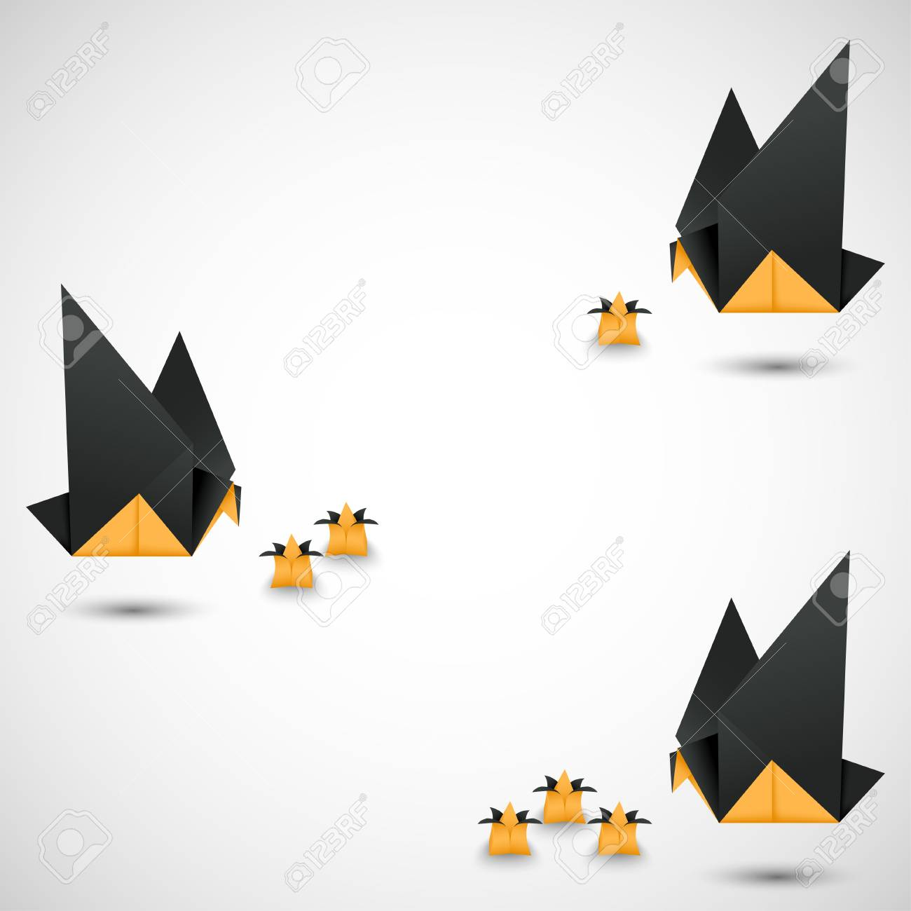 origami doves options vector Stock Vector - 17804667
