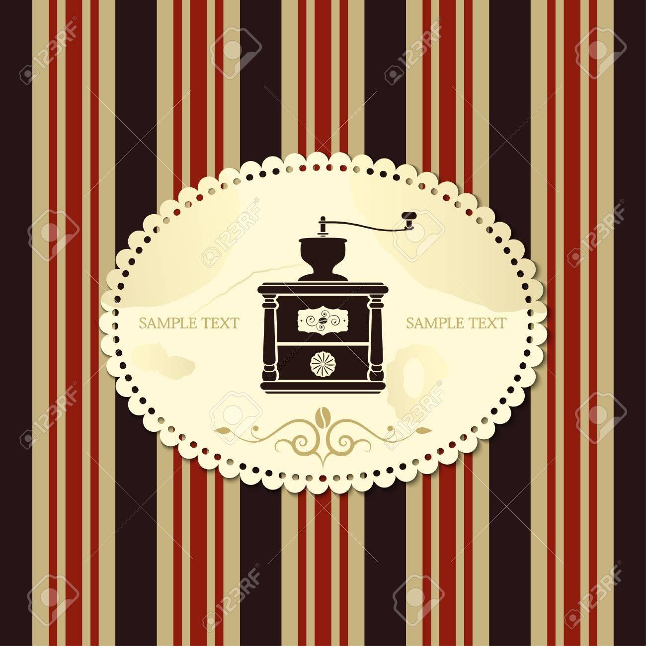 coffee mill retro style vector Stock Vector - 17948033