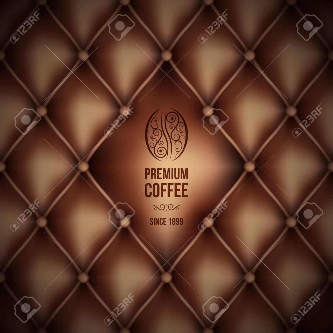 premium coffee  leather theme Stock Vector - 19354686