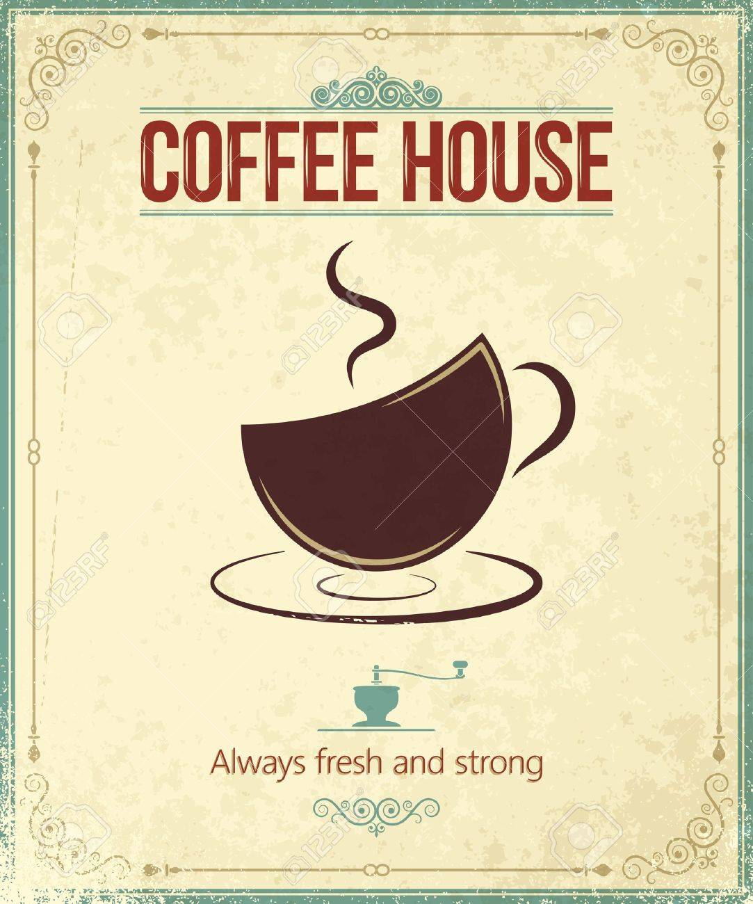 Vintage Coffee Shop Logo Coffee Shop Vintage Coffee