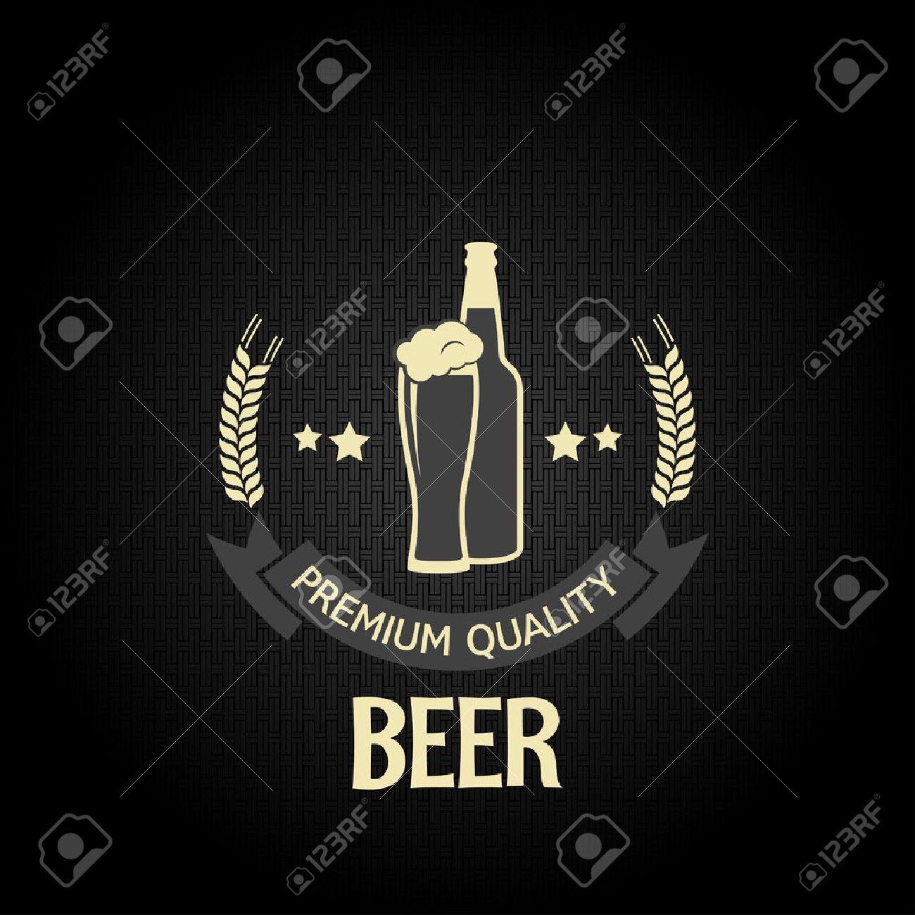 beer glass bottle barley design menu background Stock Vector - 24028943