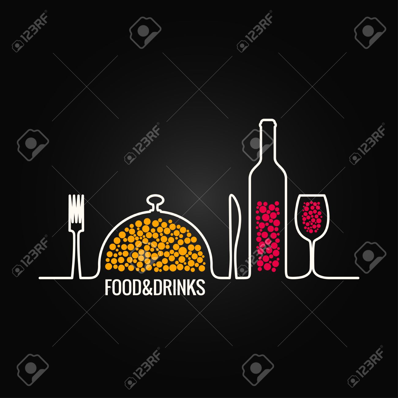 food and drink menu background royalty free cliparts, vectors, and