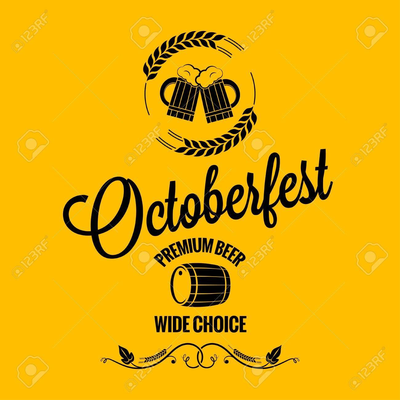 10 月祭ビール デザインの背景のイラスト素材 ベクタ Image