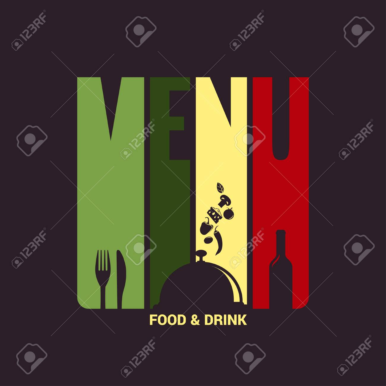 food and drink menu label design background royalty free cliparts