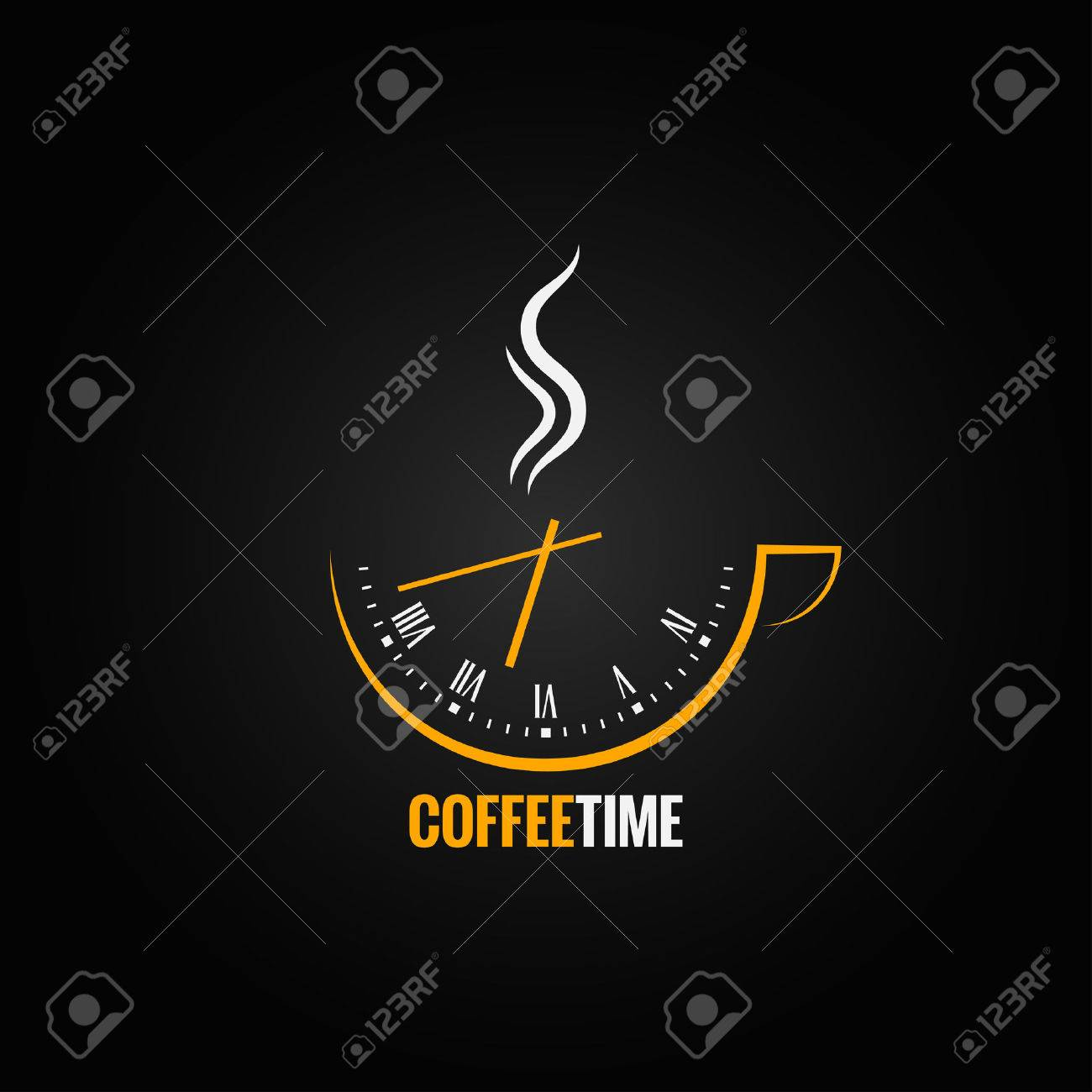 coffee cup clock time concept background - 39240520