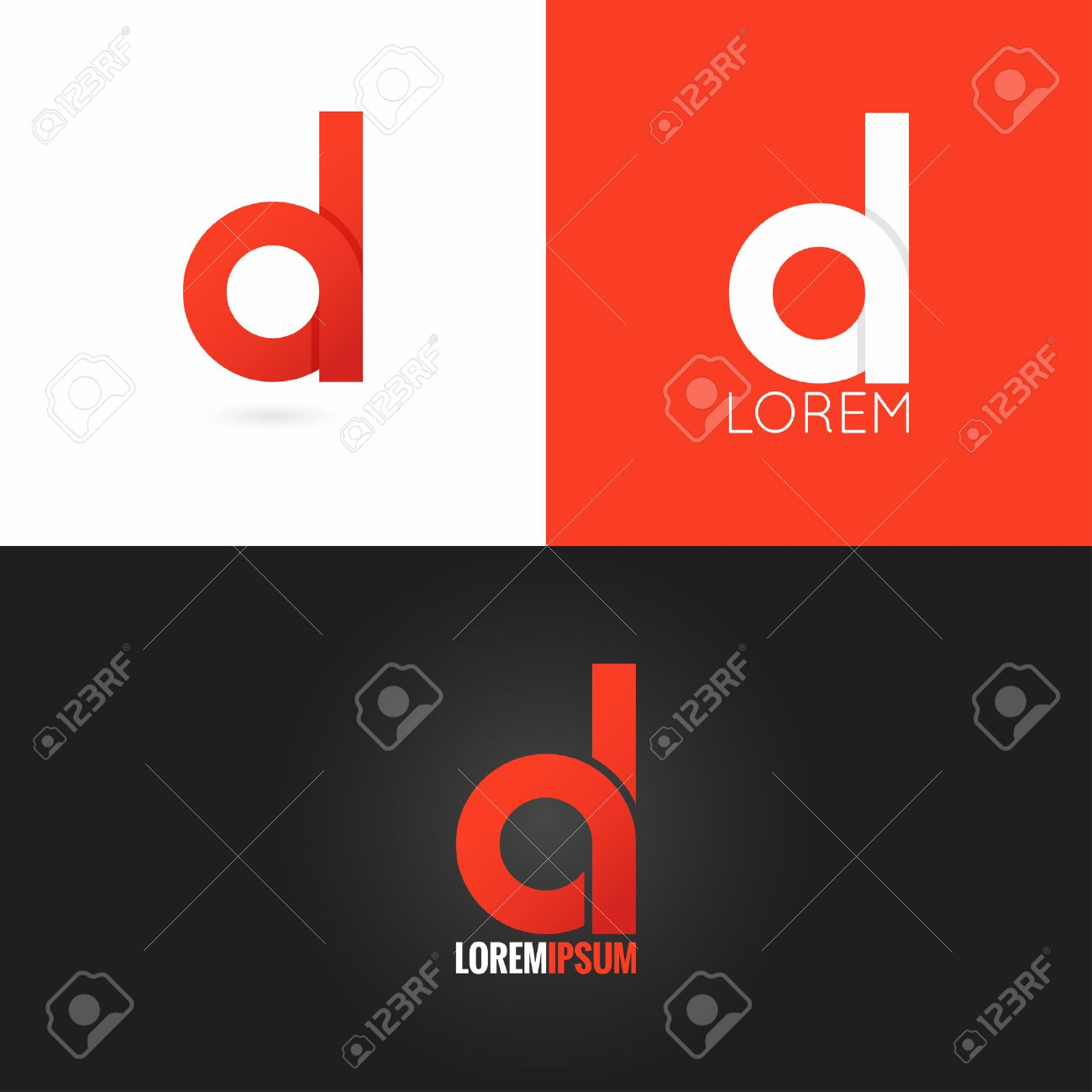 D logo stock photos royalty free d logo images letter d logo design icon set background thecheapjerseys Images