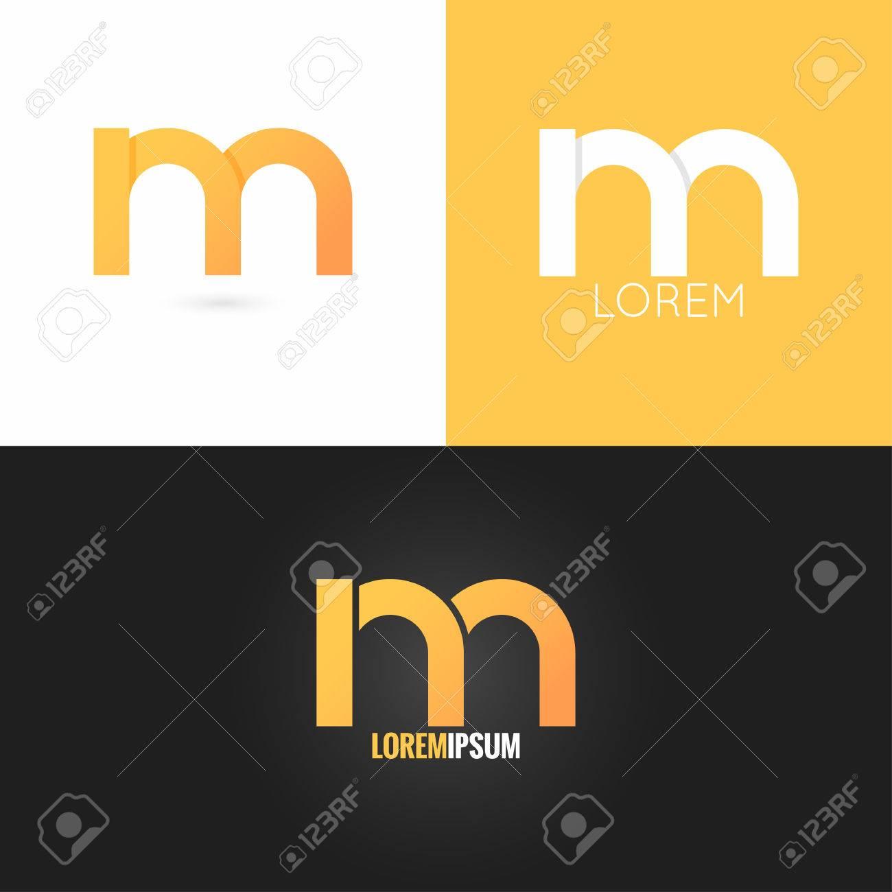 Letra M Logo Icono De La Escenografía De Fondo 10 Eps