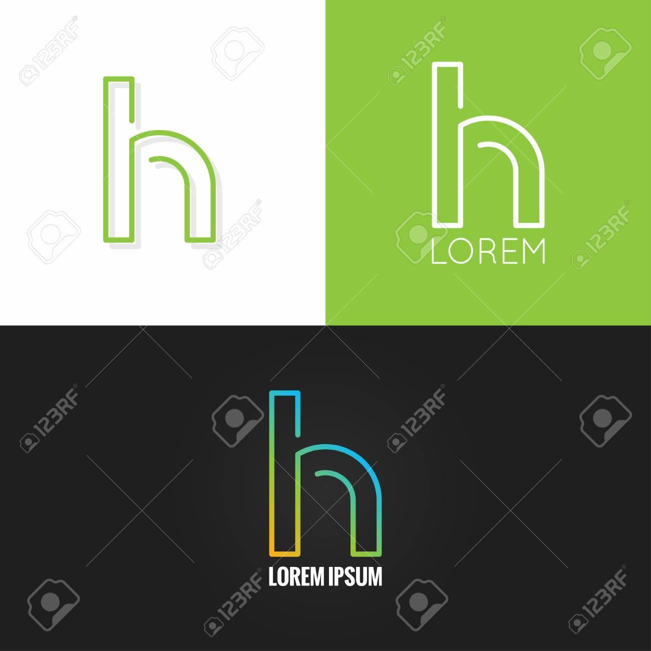 Letter H Alphabet Design Icon Set Background 10 Eps Royalty Free