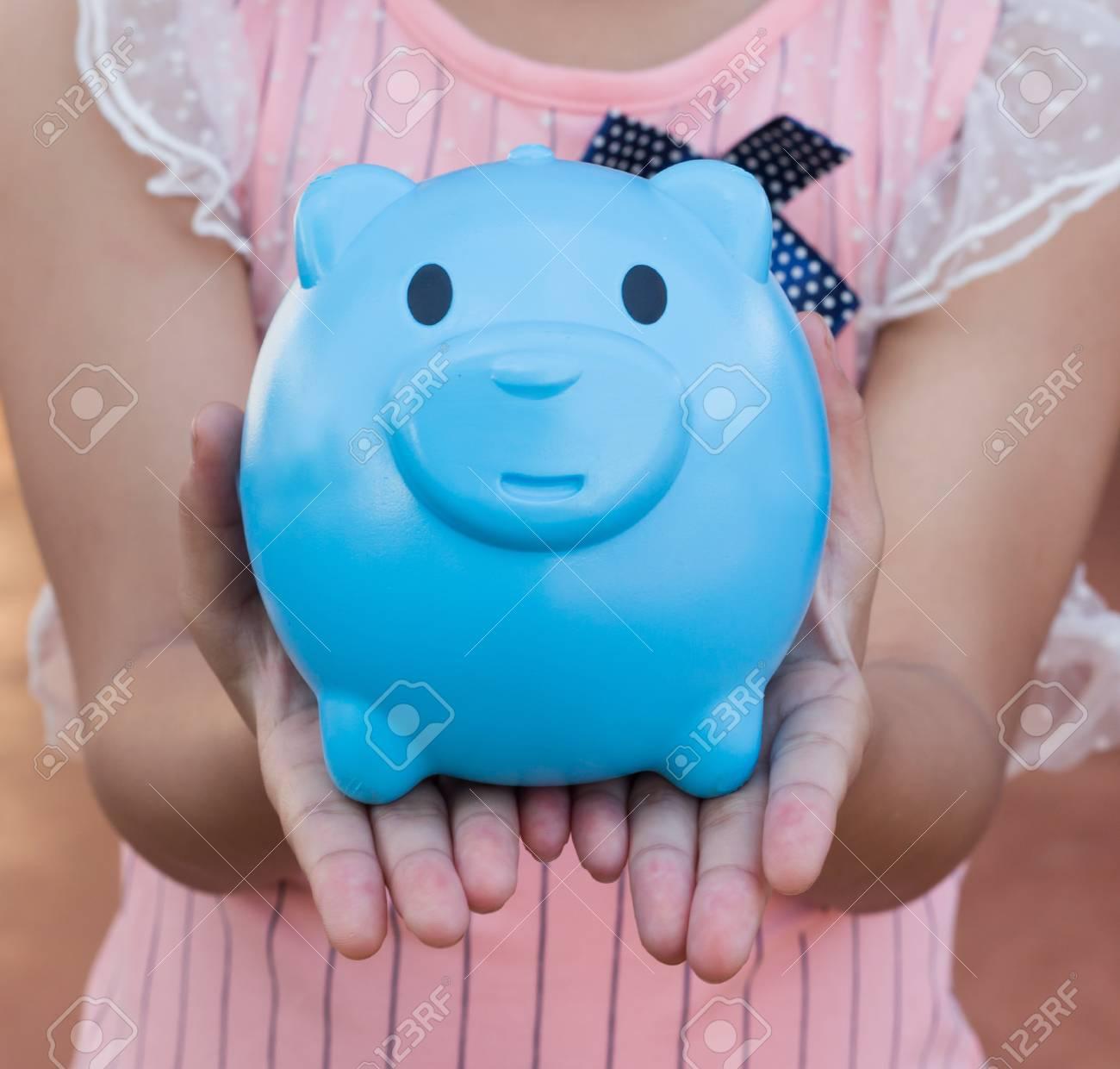Childrens piggy bank pig stock photo 67100685