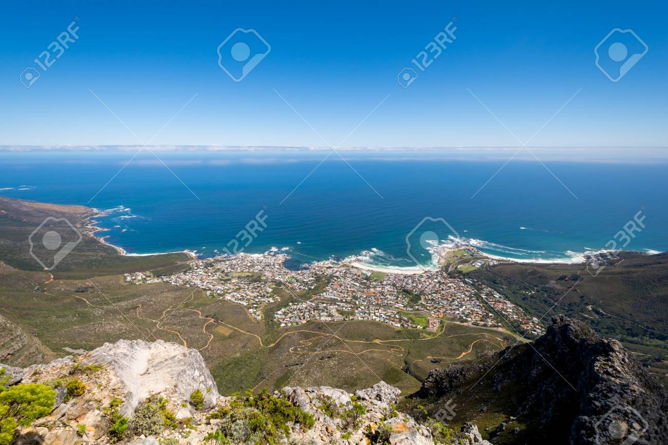 View Of Top Of Table Mountain Ins Cape Town In South Africa Stock - Table top mountain south africa