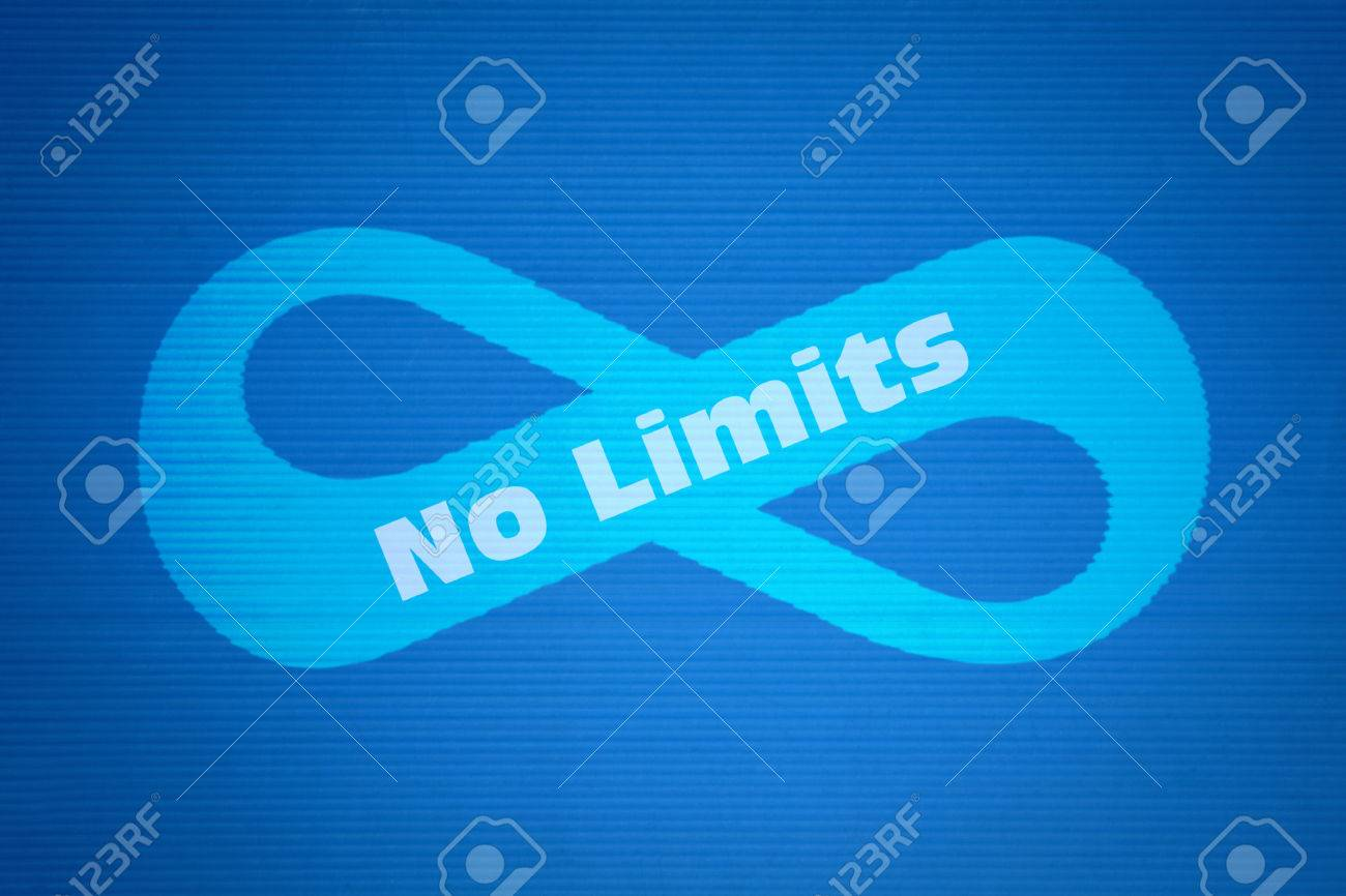 Mathematical symbol of infinity and text no limits on blue mathematical symbol of infinity and text no limits on blue background stock photo 61063893 biocorpaavc Gallery
