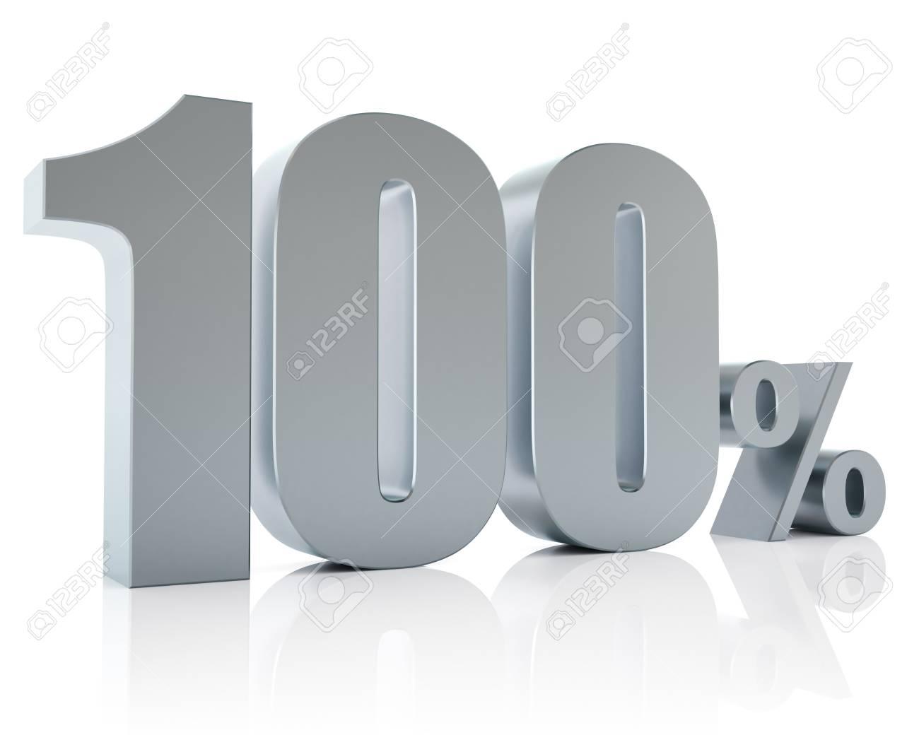 One hundred percent metallic discount symbol Stock Photo - 14192114