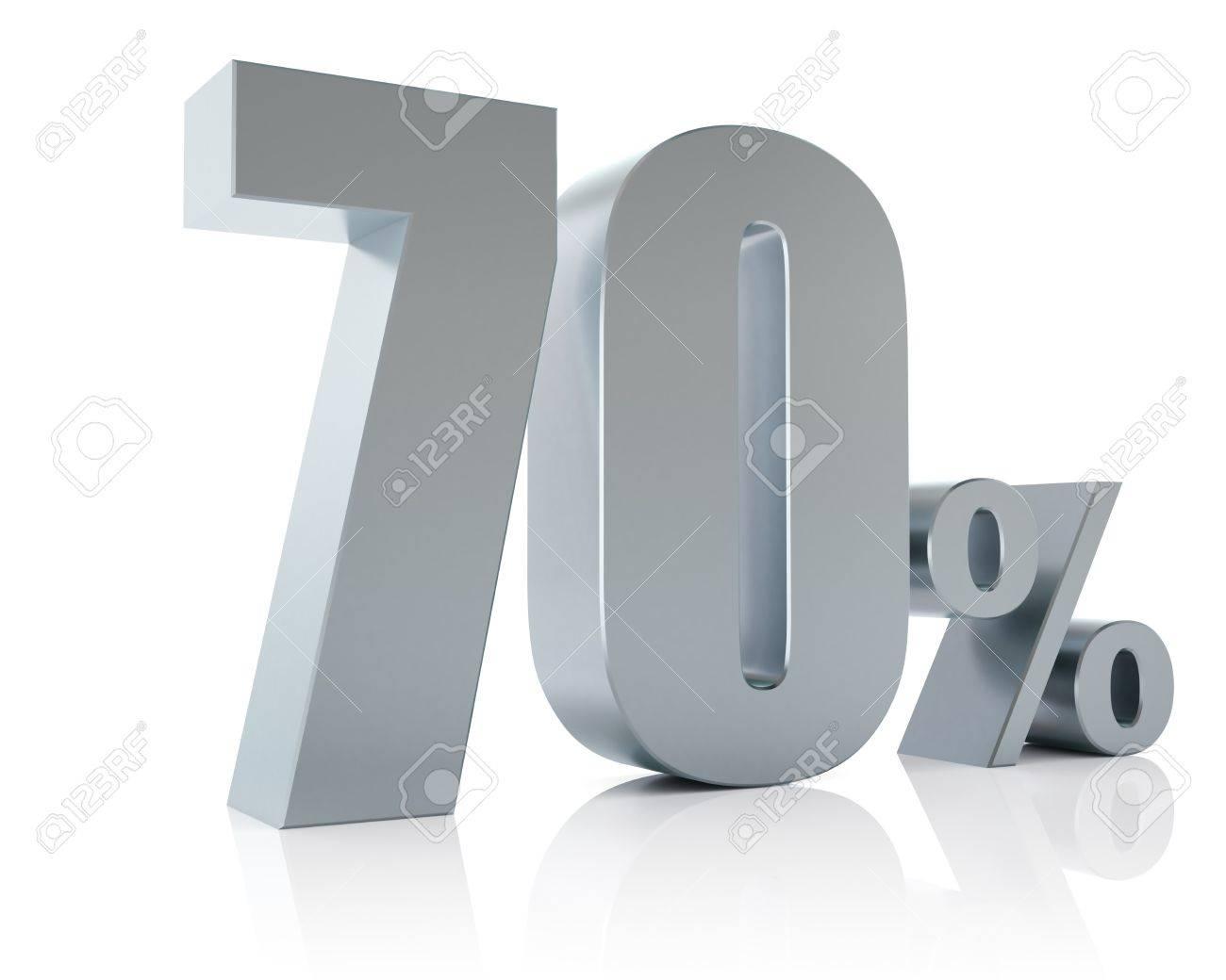 Seventy percent metallic discount symbol Stock Photo - 14192111