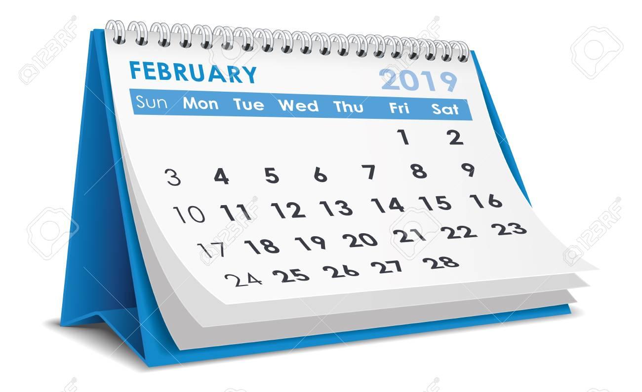 Free February 2019 Calendar Vector February 2019 Calendar Royalty Free Cliparts, Vectors, And Stock