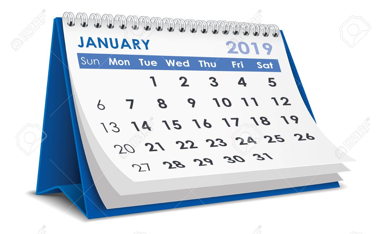 January 2019 Clipart Calendar January 2019 Calendar Royalty Free Cliparts, Vectors, And Stock