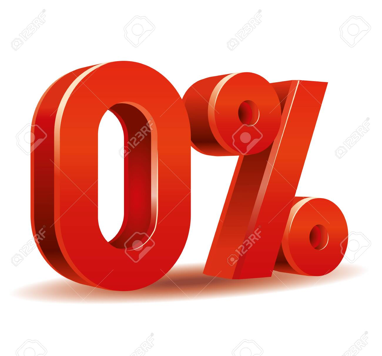 illustration vector in red color of percent isolated in white background - 142747431