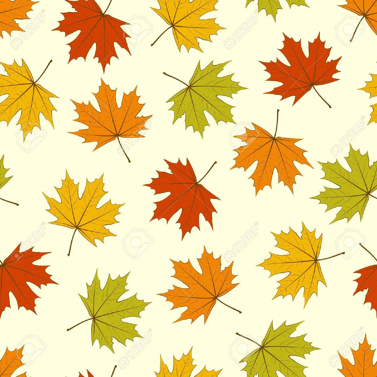 Seamless background - autumnal maple leaves. EPS10 vector. Stock Vector - 15064135