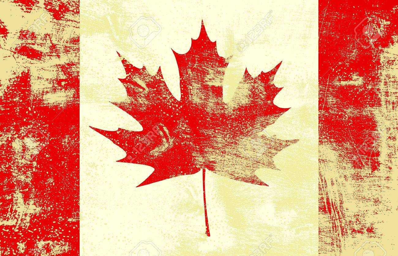 Grunge textured canadian flag. Stock Vector - 15874824