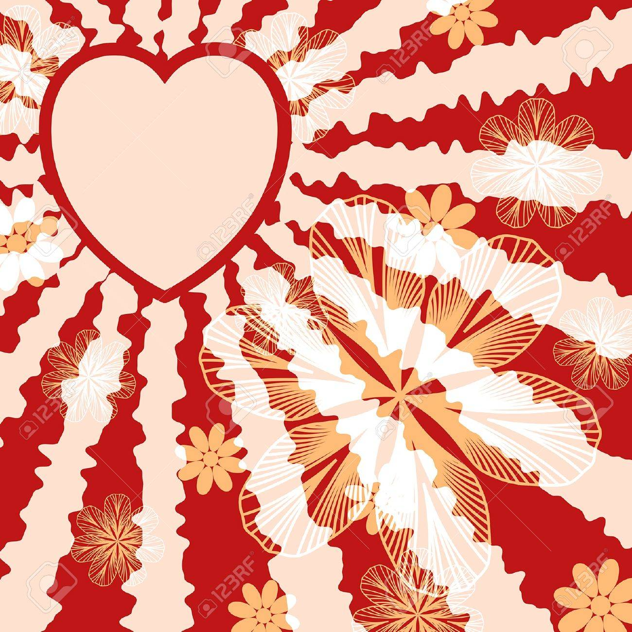 Red floral valentine background. EPS10 vector illustration. Stock Vector - 17667218