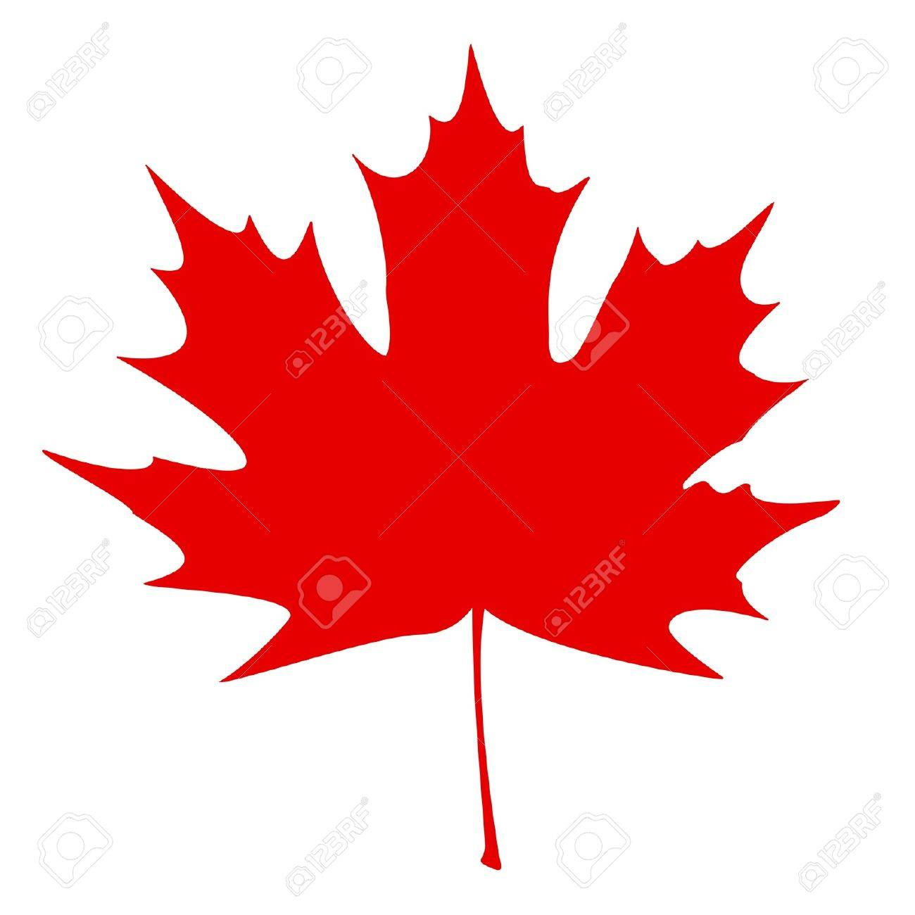 stylized canadian flag vector illustration royalty free cliparts