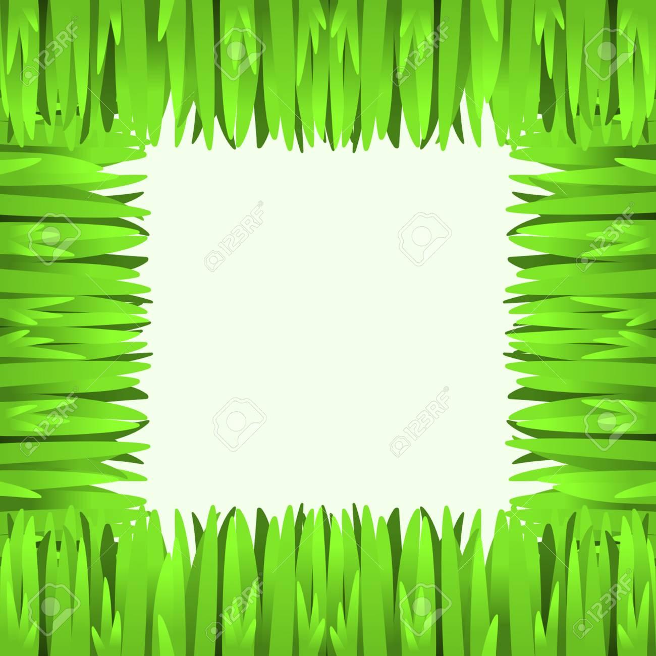 Grünes Gras-Frame-Rahmen Quadrat Element Für Ihr Design. Lizenzfrei ...