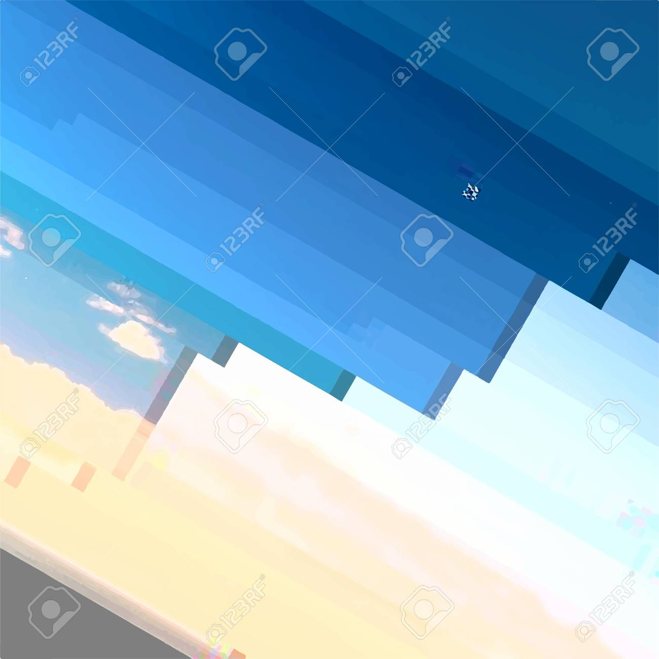 Abstract Glitch distress texture. Cyber hacker attack theme creative design template. Grunge glitched color pixel background. EPS10 vector - 123995094