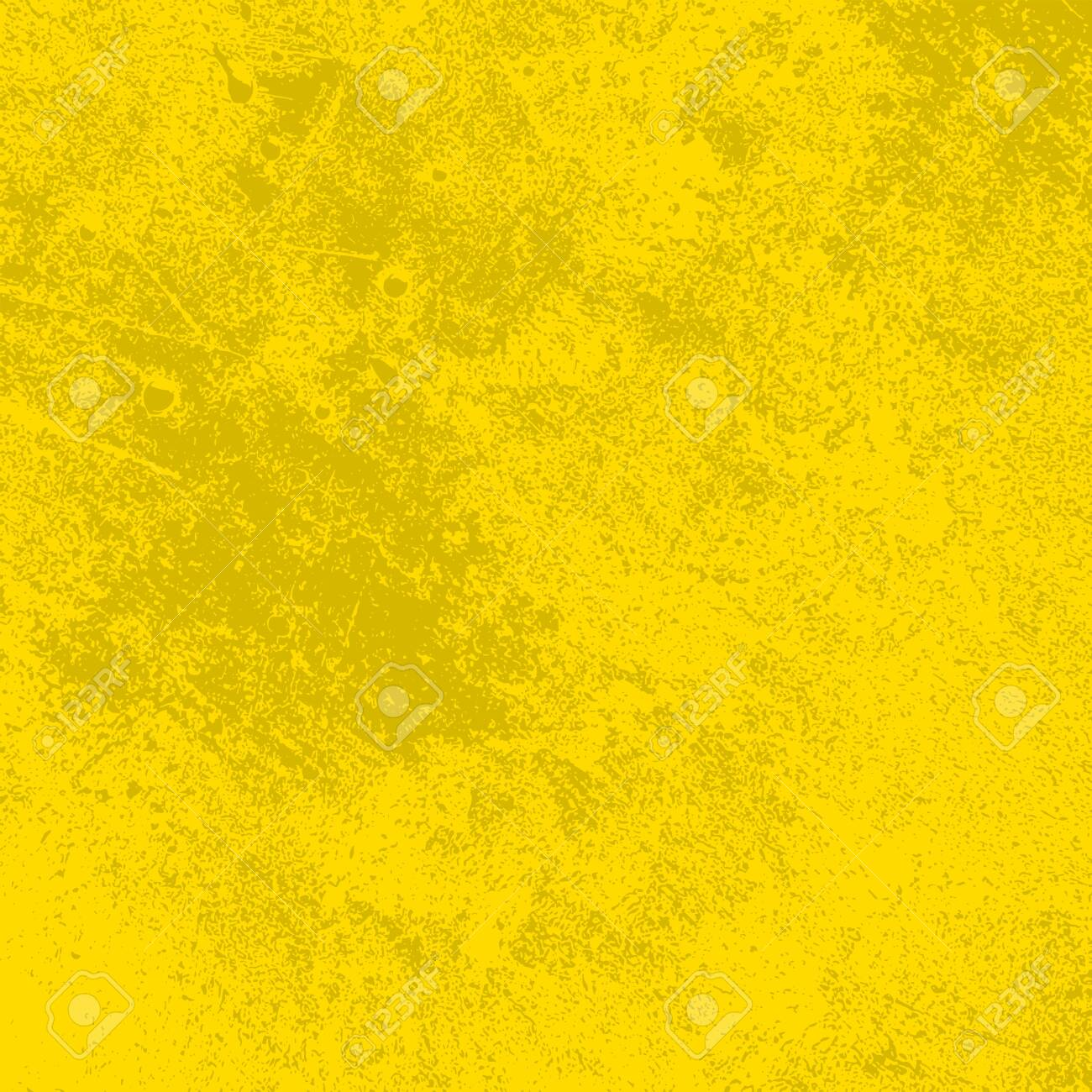 Brushed yellow paint cover. Distress urban used texture. Grunge rough dirty background. Overlay aged grainy messy template. Renovate wall scratched backdrop. Empty aging design element. EPS10 vector - 138233866