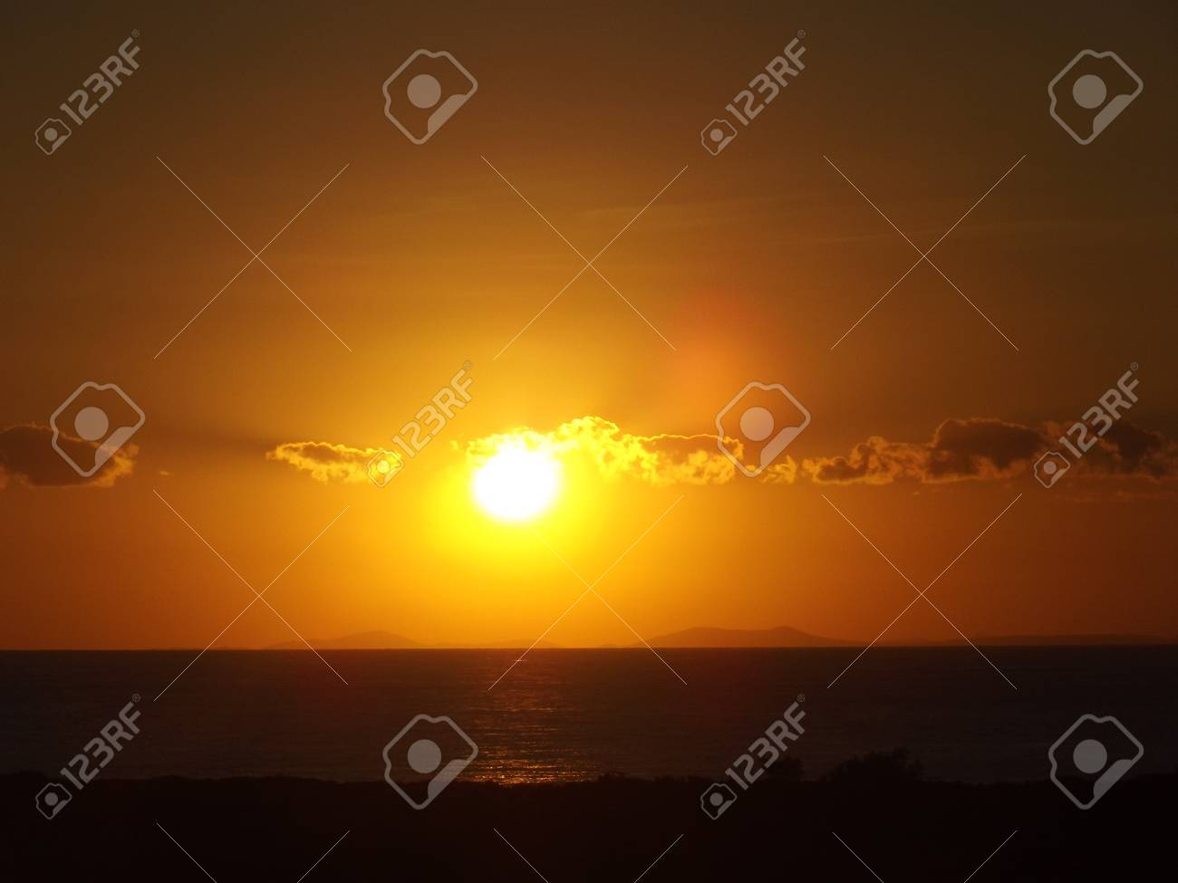 horizon in Bozcaada Stock Photo - 15740630