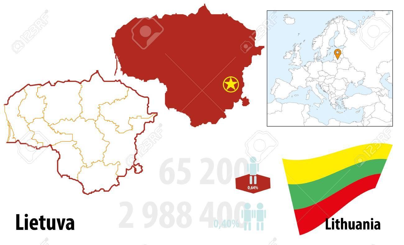 Lithuania Stock Vector - 16765398