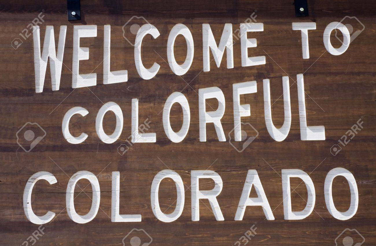 Welcome to Colorado sign. Stock Photo - 5322788